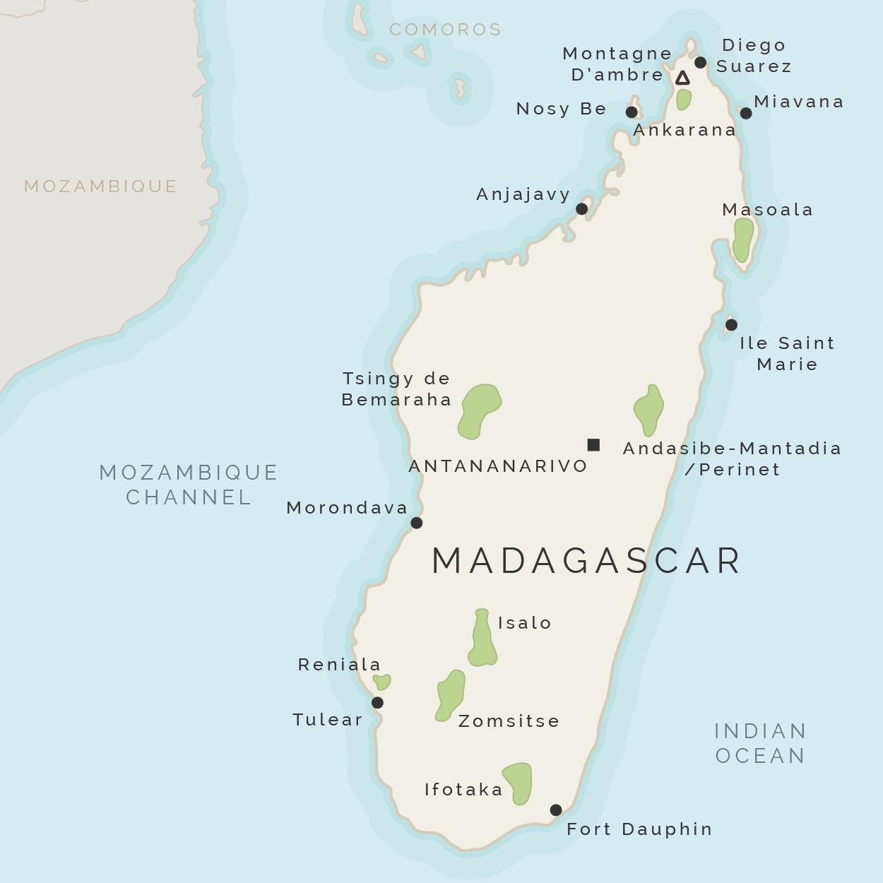 Madagaskar Karte.Madagaskar Insel Map Karte Von Madagaskar Und Umliegenden