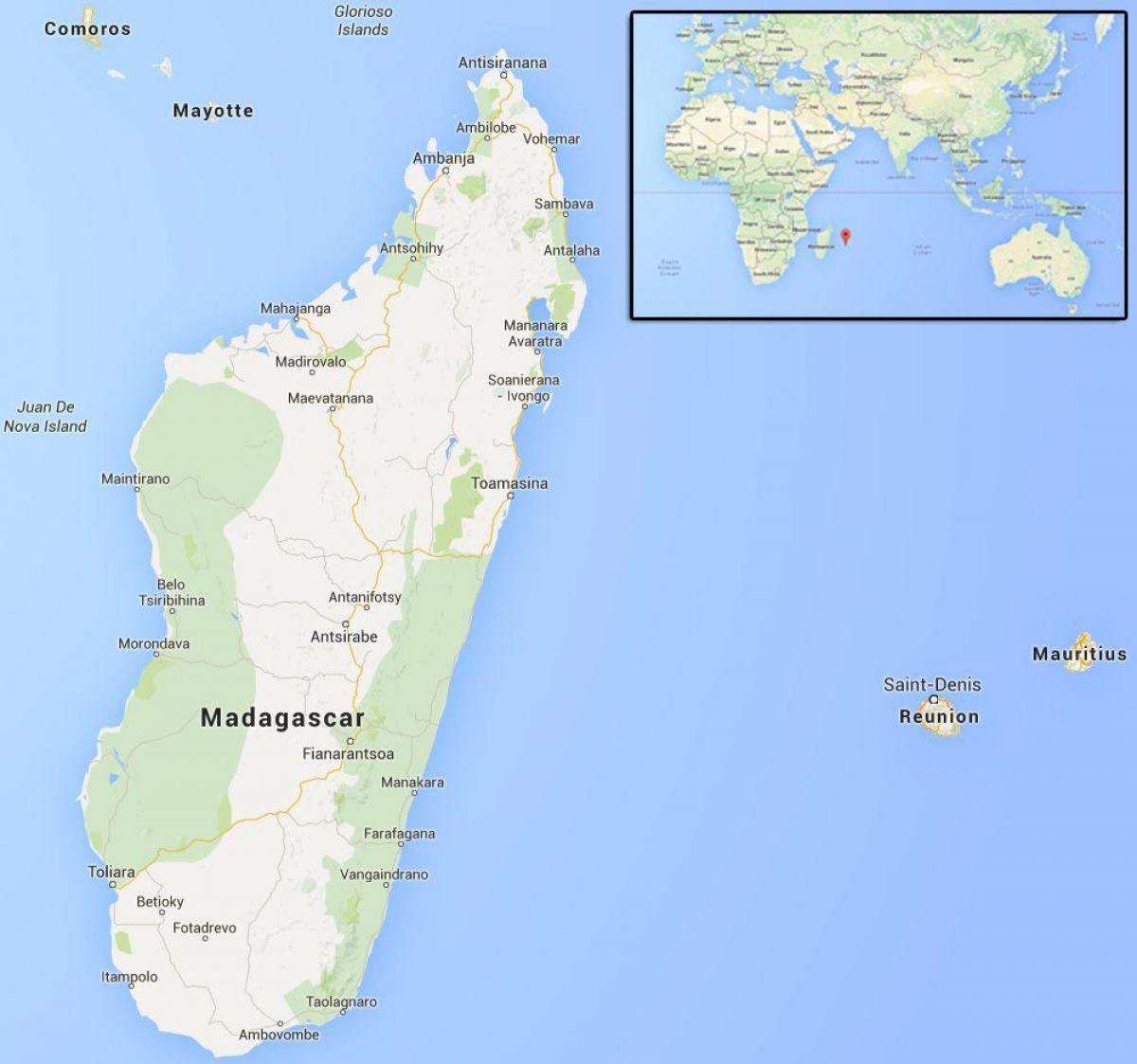 Madagaskar Karte.Inseln In Der Nahe Von Madagaskar Karte Karte Der Inseln