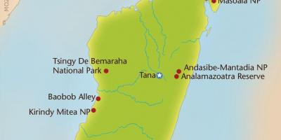 Madagaskar Karte Nationalparks.Madagaskar National Parks Map Karte Von Madagaskar National Parks